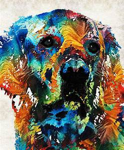Colorful Dog Art - Heart And Soul - By Sharon Cummings ...