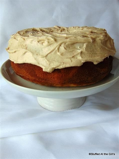 marble spice cake  brown sugar buttercream frosting