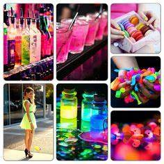 Neon party ideas Party Fun Pinterest