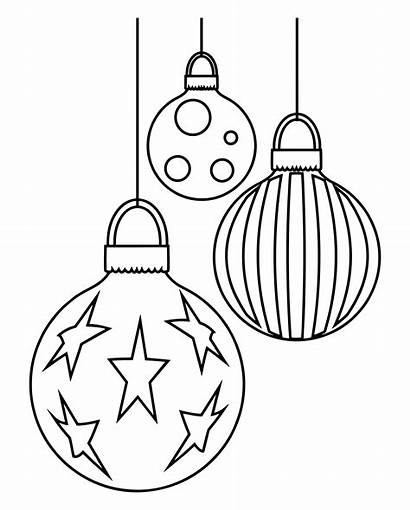 Christmas Printable Ornaments Coloring Ornament Pages Category