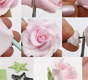 Tuto Pate Fimo : comment faire une rose en fimo tuto ~ Dode.kayakingforconservation.com Idées de Décoration