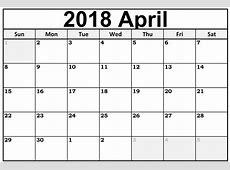2018 년 4 월 달력 한국어 인쇄 가능한 주형 휴가 Printable Templates