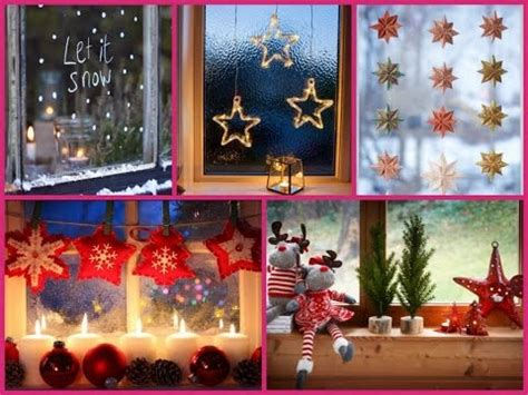 christmas window decorations  diy ideas  youtube