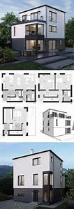 Haus Bauen Ideen Grundriss : einfamilienhaus neubau modern mit flachdach architektur ~ Orissabook.com Haus und Dekorationen