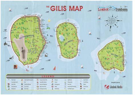 carte detaillee des iles gili dans le nord ouest de