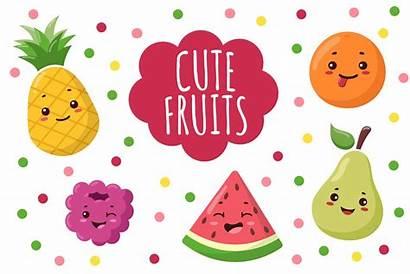 Kawaii Clipart Fruit Melon Patterns Fruits Svg
