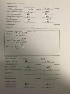 Solved  Chem 1211 Lab Manual  2016 9 0 Change