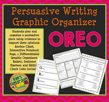 persuasive writing graphic organizer oreo  kiles