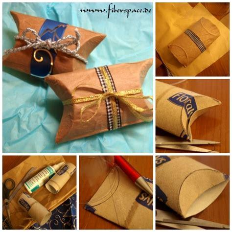 pillow box basteln upcycling selbstgemachte geschenkverpackung pillow box aus toilettenpapierrollen 171 171 fiberspace