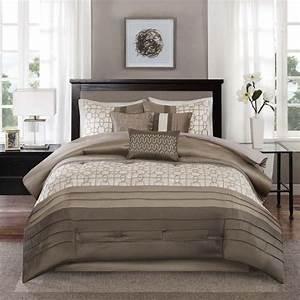 Shop, Madison, Park, Jeffrey, Taupe, 7-piece, Comforter, Set, -, Free, Shipping, Today