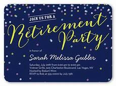 Retirement Confetti Surprise Party Invitations Shutterfly
