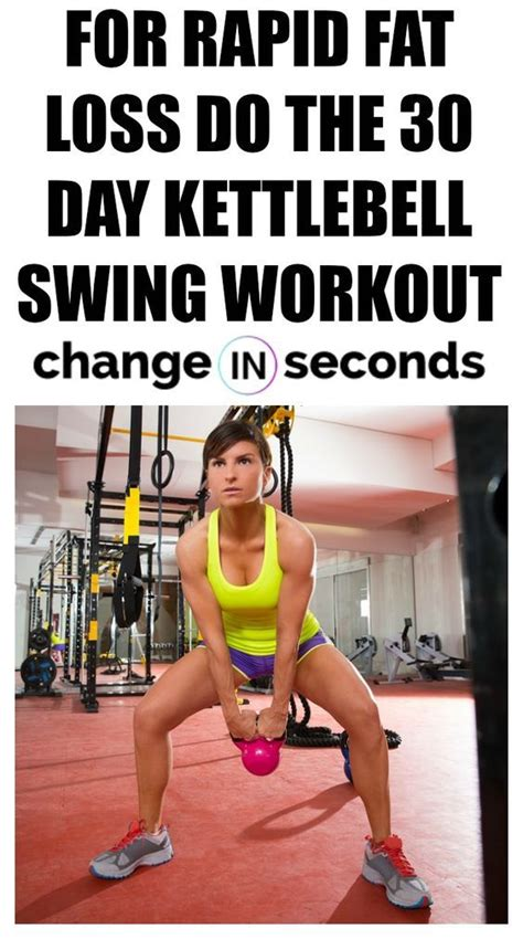 workout kettlebell swing loss challenge fat exercises pdf push hiit rapid bell results weight swings printable arm training kettle changeinseconds