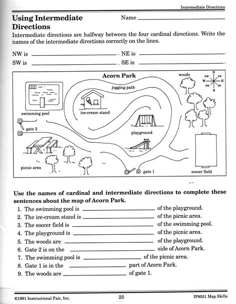 directions worksheet worksheets for all and