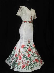 mexican wedding dress vestido mexicano bordado floral With mexican wedding dresses plus size