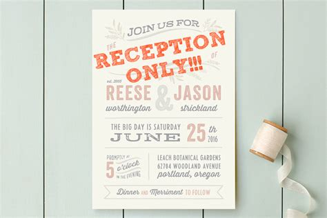 Wedding Invitation Wording: Wedding Invitation Wording Reception Only