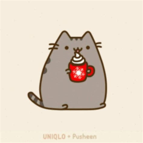 Image result for pusheen drinking tea