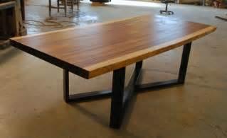 wooden kitchen island legs meja trembesi kaki besi hollow minimalis zaman furniture jepara