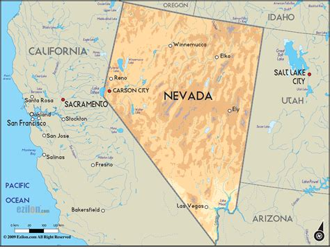 Map Of Carson City Printable  Map Of Nevada State Printable