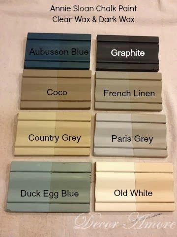 decor my sloan chalk paint 174 color boards with