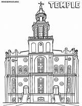 Temple Coloring Pages Temple1 Building sketch template