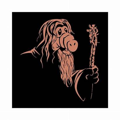 Gandalf Parodie Noir Half Tee Homme Femme