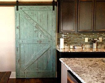 sale sliding barn door reclaimed pine turquoisewhite