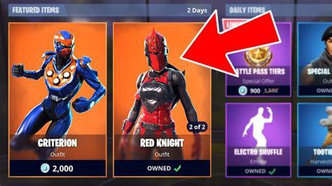 fortnite  legendary criterion  red knight skins