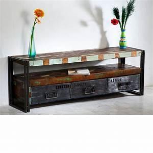 Lowboard Design Möbel : lowboard tv bank 160cm antik holz metall designer industrie m bel neu quebec in m bel wohnen ~ Sanjose-hotels-ca.com Haus und Dekorationen