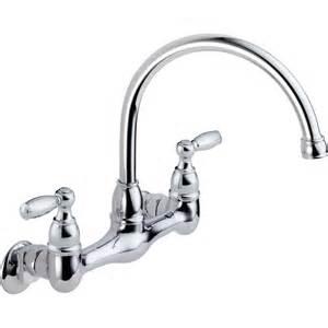 high arc kitchen faucet shop peerless chrome 2 handle high arc wall mount kitchen faucet at lowes