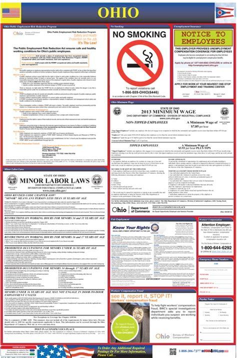 ohio labor law poster oshaless