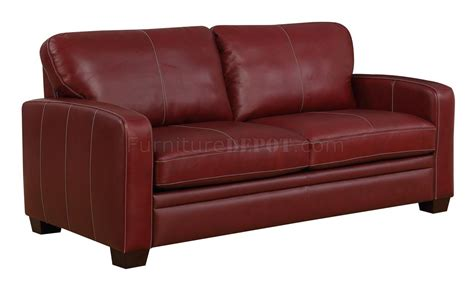 Hartley Sofa In Red Wine Leather By Mstar Woptions