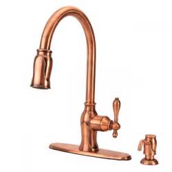 antique copper kitchen faucet fontaine ff chl4k ac pull kitchen faucet antique copper