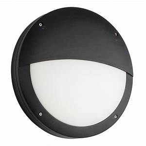 Endon Luik Eyelid LED Bulkhead Light Black IP65