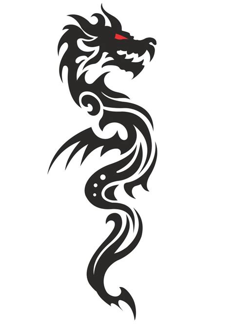 cool tribal dragon tattoo design vector  vector cdr