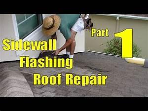 Asphalt Shingle Sidewall Flashing Repair 1 Of 3 Removing