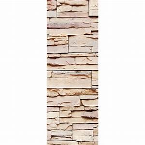 Trompe L Oeil Mur : affiche poster pour porte trompe l 39 oeil mur de pierre art d co stickers ~ Dode.kayakingforconservation.com Idées de Décoration