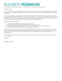 Office Administration Cover Letter Example