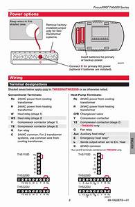 Power Options  Wiring  Terminal Designations