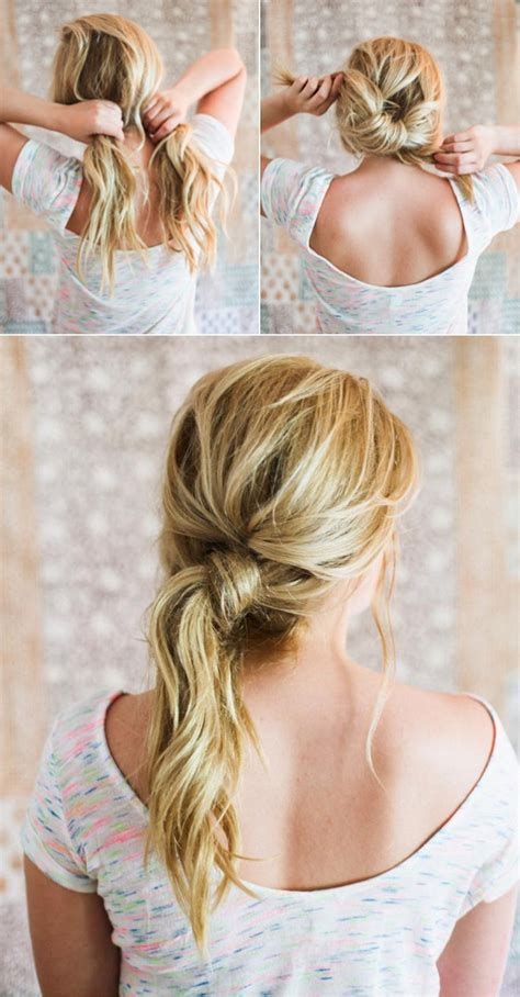 easy hairstyles   wear  work