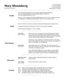 basic resume sles download basic resume template template design