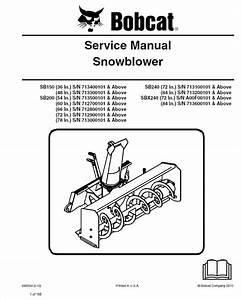 Bobcat Snowblower Manual