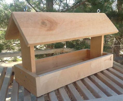 cedar wood bird feeder  lilhoneysshoppe  etsy