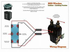 Rocker Switch  Dpdt  Red Winches Isolator