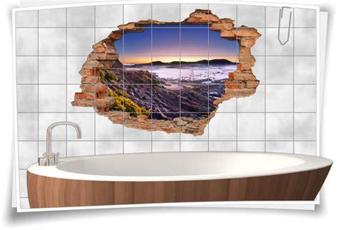 Badezimmer-deko Braun-beige Vulkan-landschaft Wand-tattoo