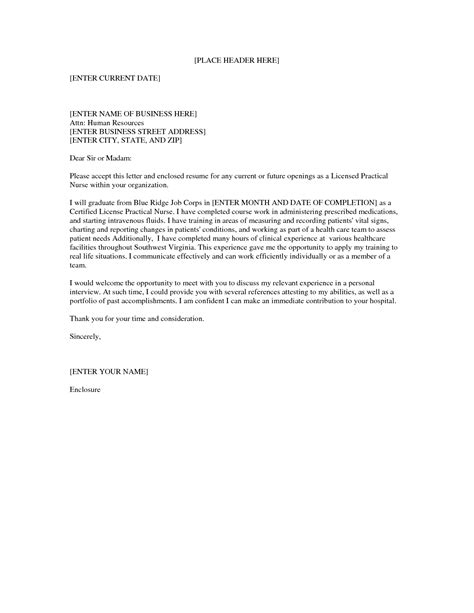 Cover Letter For Nursing Position by Lpn Nursing Cover Letter Sle Nursing School