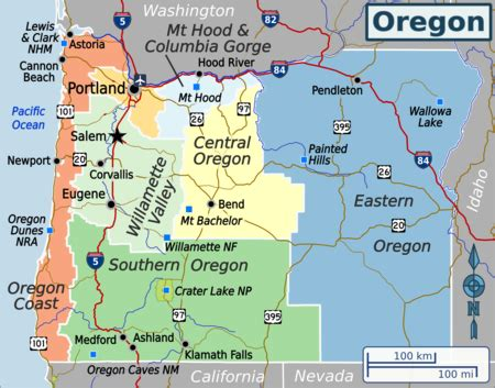 Oregon – Travel guide at Wikivoyage