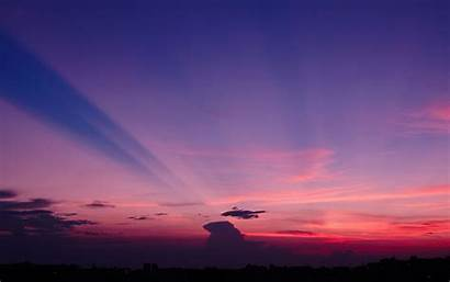 Sunset 4k Sky Japan Purple Skyline Clouds