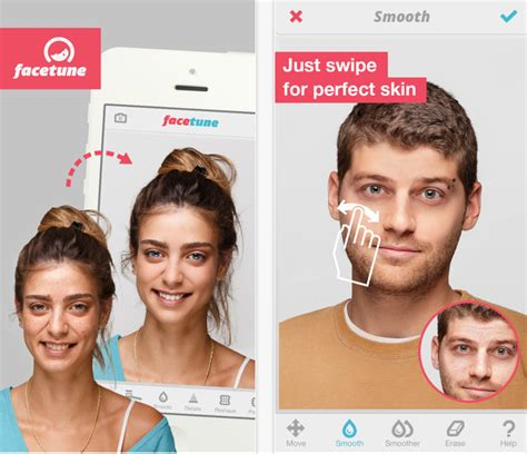 photo editing apps  spotless facial retouching