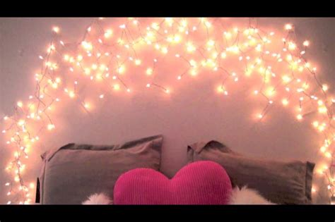 Icicle Lights In Bedroom by Diy Icicle Light Headboard House Decor