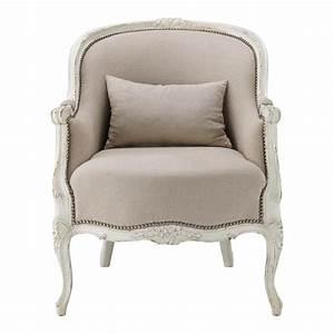 Fauteuil Crapaud Maison Du Monde : fauteuil en lin montpensier maisons du monde ~ Melissatoandfro.com Idées de Décoration